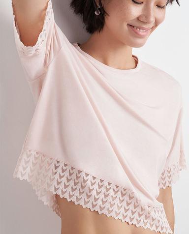 AIMER NYC睡衣|AIMER NYC爱慕GREENWICH格林尼治宽松短袖上衣AN450132