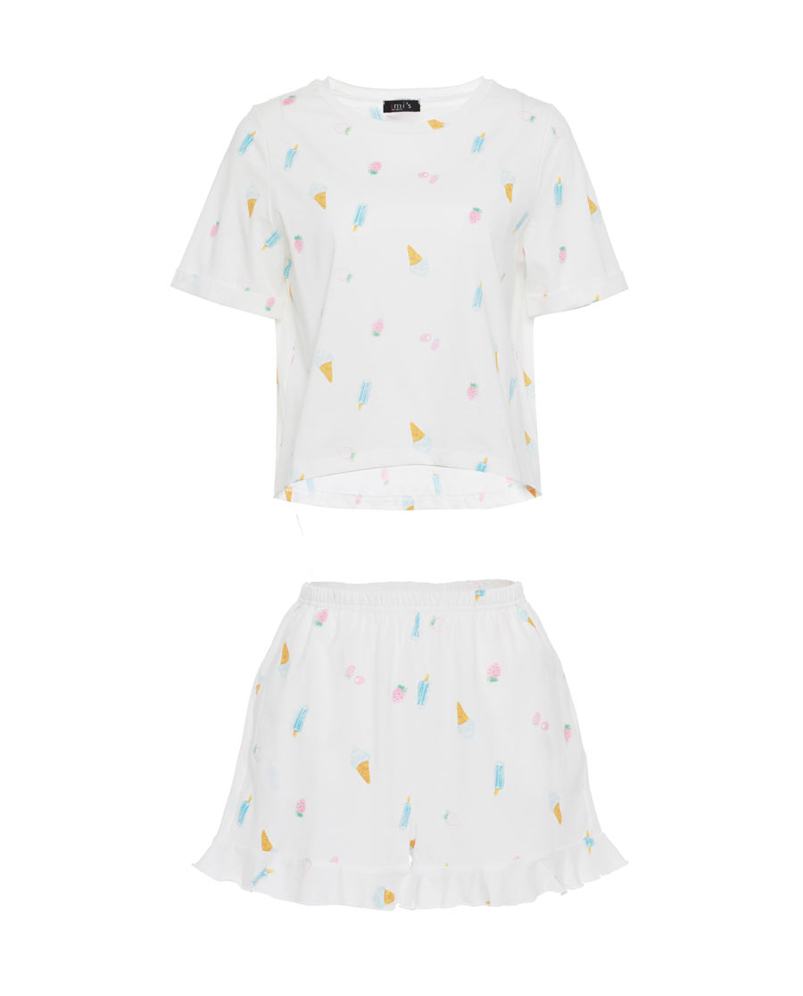 IMIS睡衣|愛美麗家居夢幻冰激凌短袖套裝IM46AX