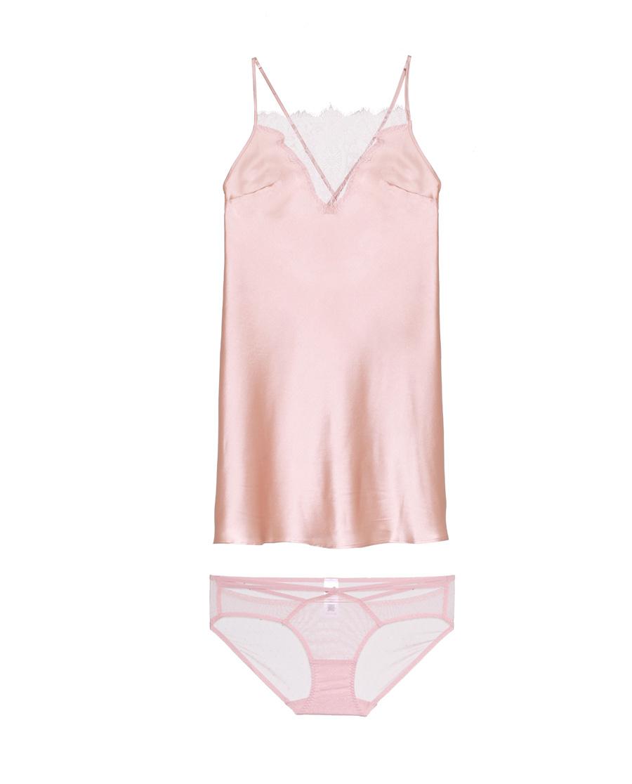 Aimer睡衣|爱慕至美性感睡裙+三角裤AM43421