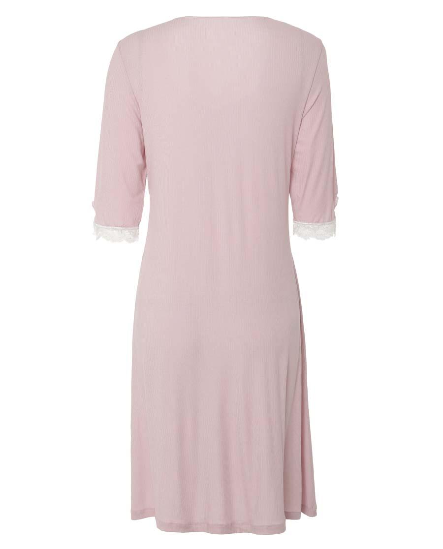Aimer Home睡衣|爱慕家品舒眠雅韵七分袖中长睡裙AH440811