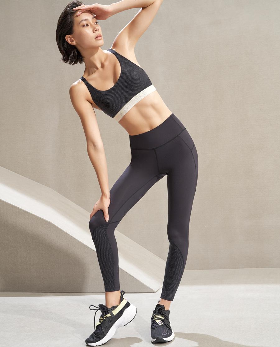 Aimer Sports运动装|爱慕运动运动派对跑步紧身长裤AS153K71