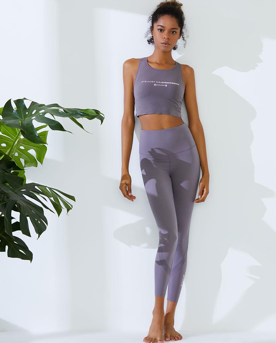 IMIS運動裝|愛美麗運動穿梭時光高腰拼接緊身長褲IM6