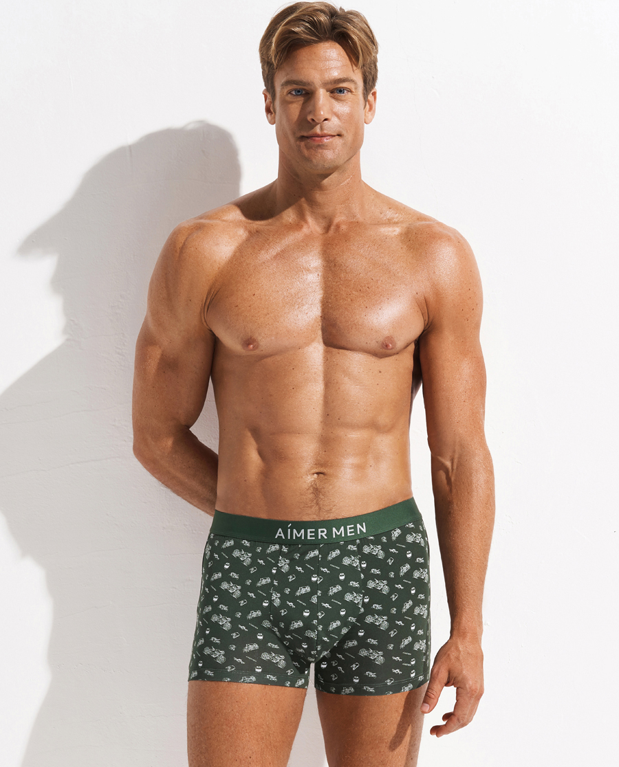 Aimer Men內褲|愛慕先生機車系列裝腰平角褲NS23D12