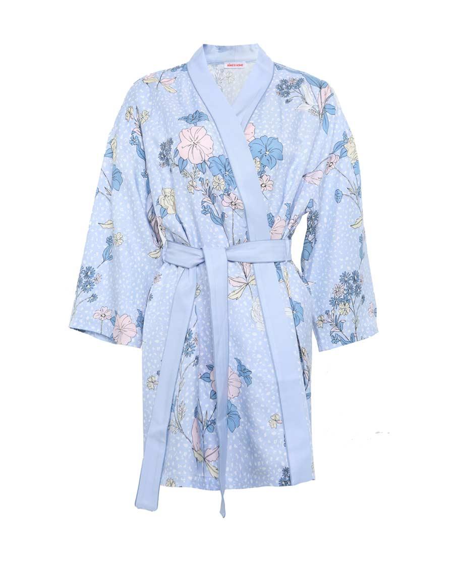 Aimer Home睡衣|爱慕花颜短睡袍AH480841