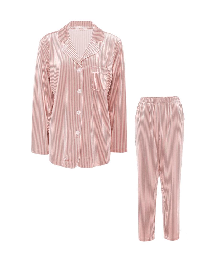 Aimer睡衣|爱慕柔情岁月长袖上衣长裤套装AM4639