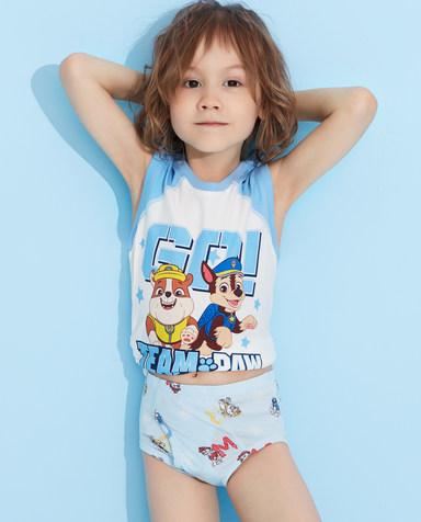 Aimer Kids内裤|爱慕儿童天使小裤MODAL汪汪队男童阿奇警车中腰三角裤AK2223421