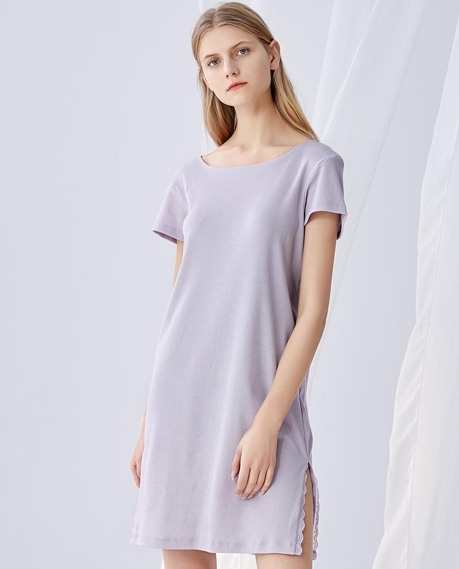 HUXI睡衣|乎兮短袖中長睡裙HX462002