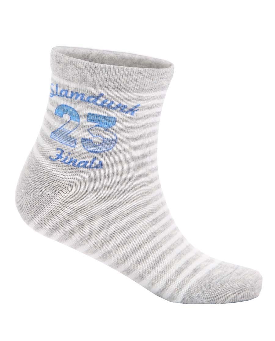 Aimer Kids襪子|愛慕兒童男童23號局部印圖短襪AK294
