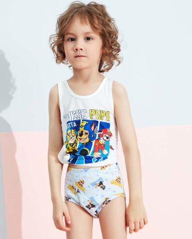 Aimer Kids内裤|爱慕儿童天使小裤棉氨纶汪汪队男童明星战队中腰三角裤AK2223461