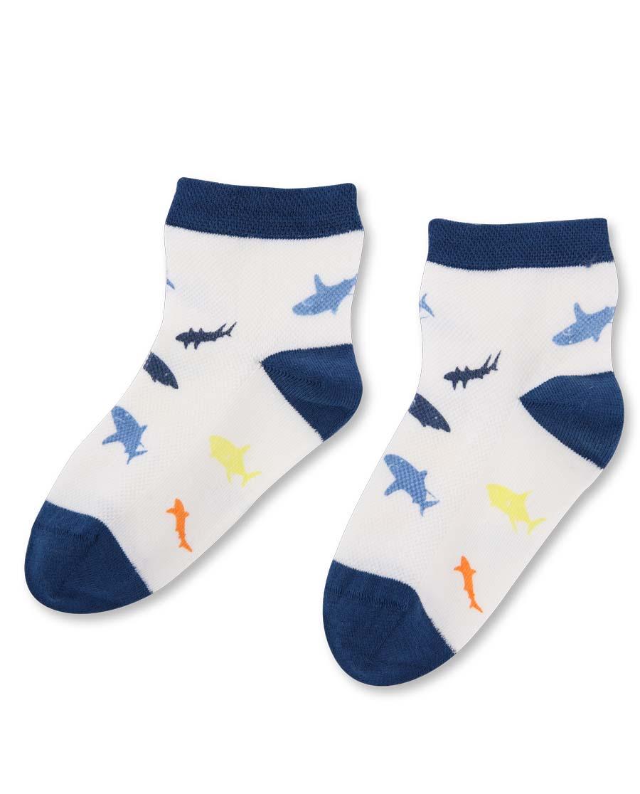 Aimer Kids襪子|愛慕兒童男童鯊魚印花短襪AK294330