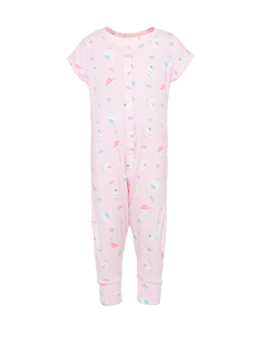 Aimer Baby睡衣|爱慕小伙伴女婴短袖睡袋AB1452522
