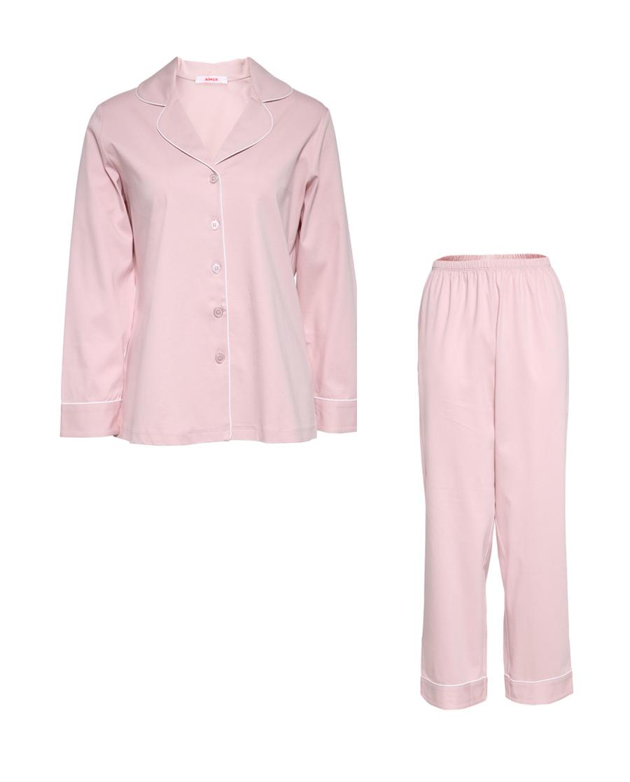 Aimer睡衣|愛慕漫時光長袖長褲分身套裝AM46443