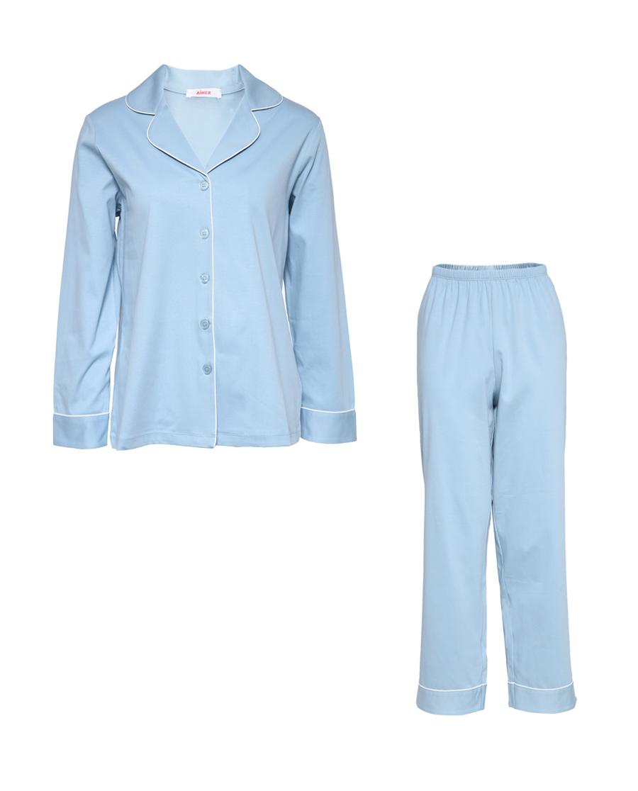 Aimer睡衣|爱慕漫时光长袖长裤分身套装AM46443
