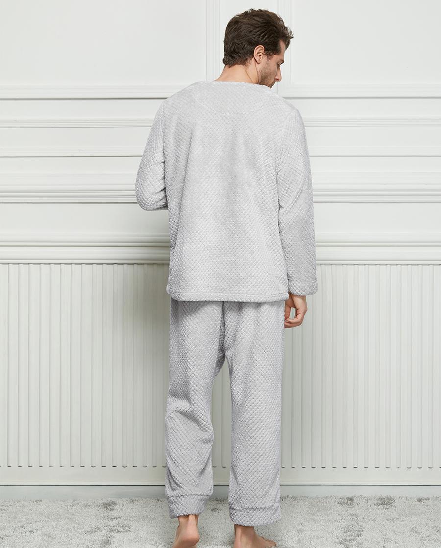 Shine Love睡衣|暖意綿綿-男士前系扣分身套裝