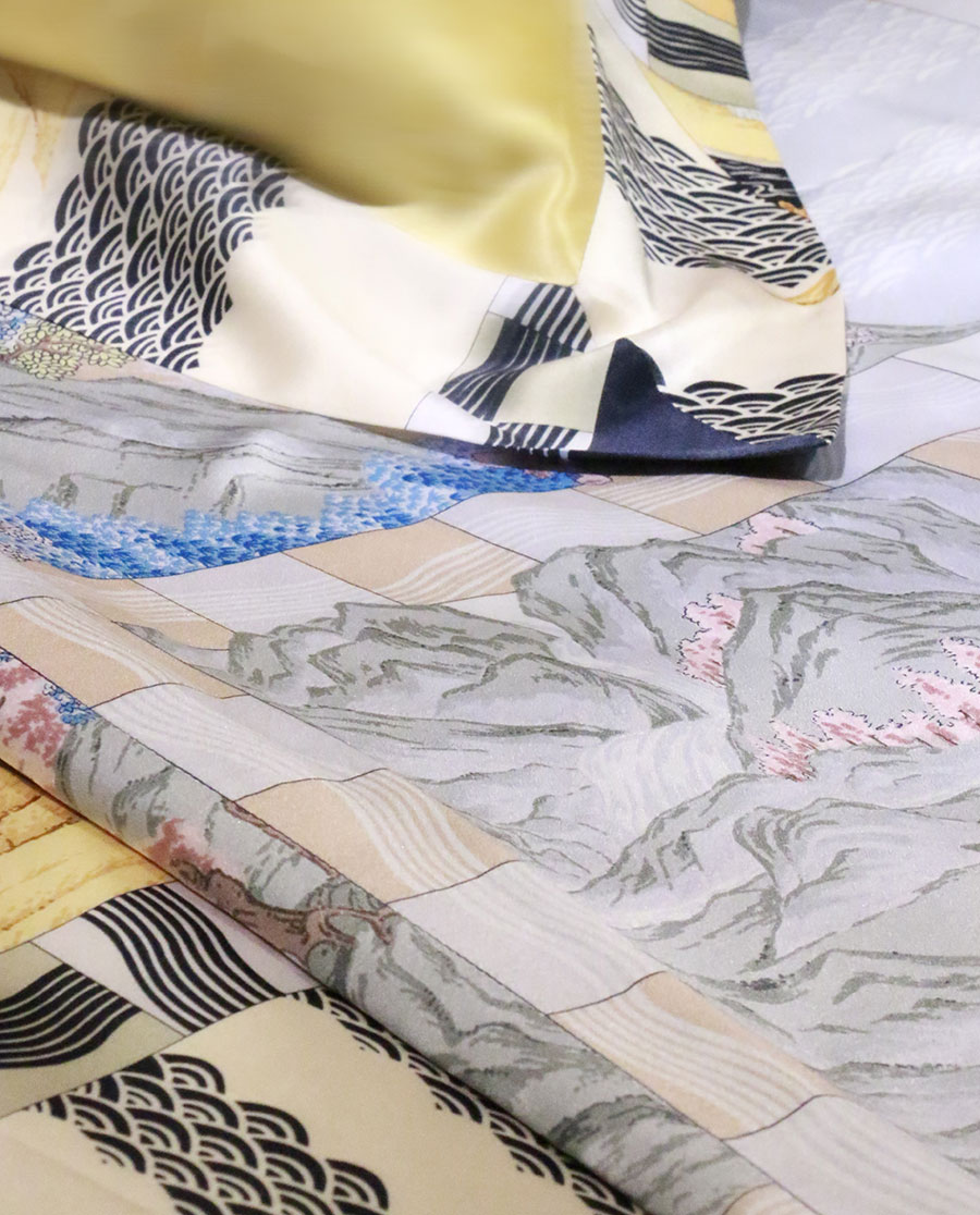 EMPERORIENT配飾|印花蠶絲被-再續蘭亭