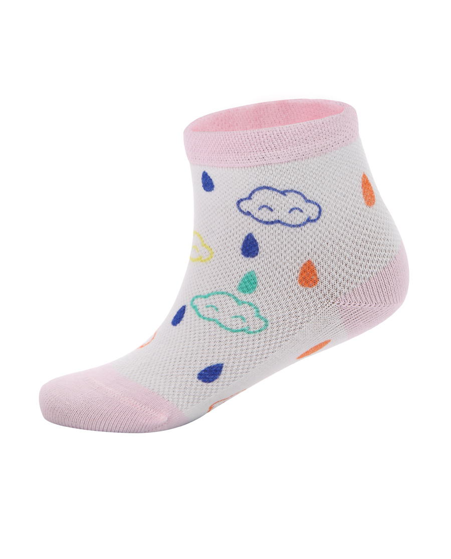Aimer Baby襪子|愛慕嬰幼襪子女童云朵雨點印花短襪AB19