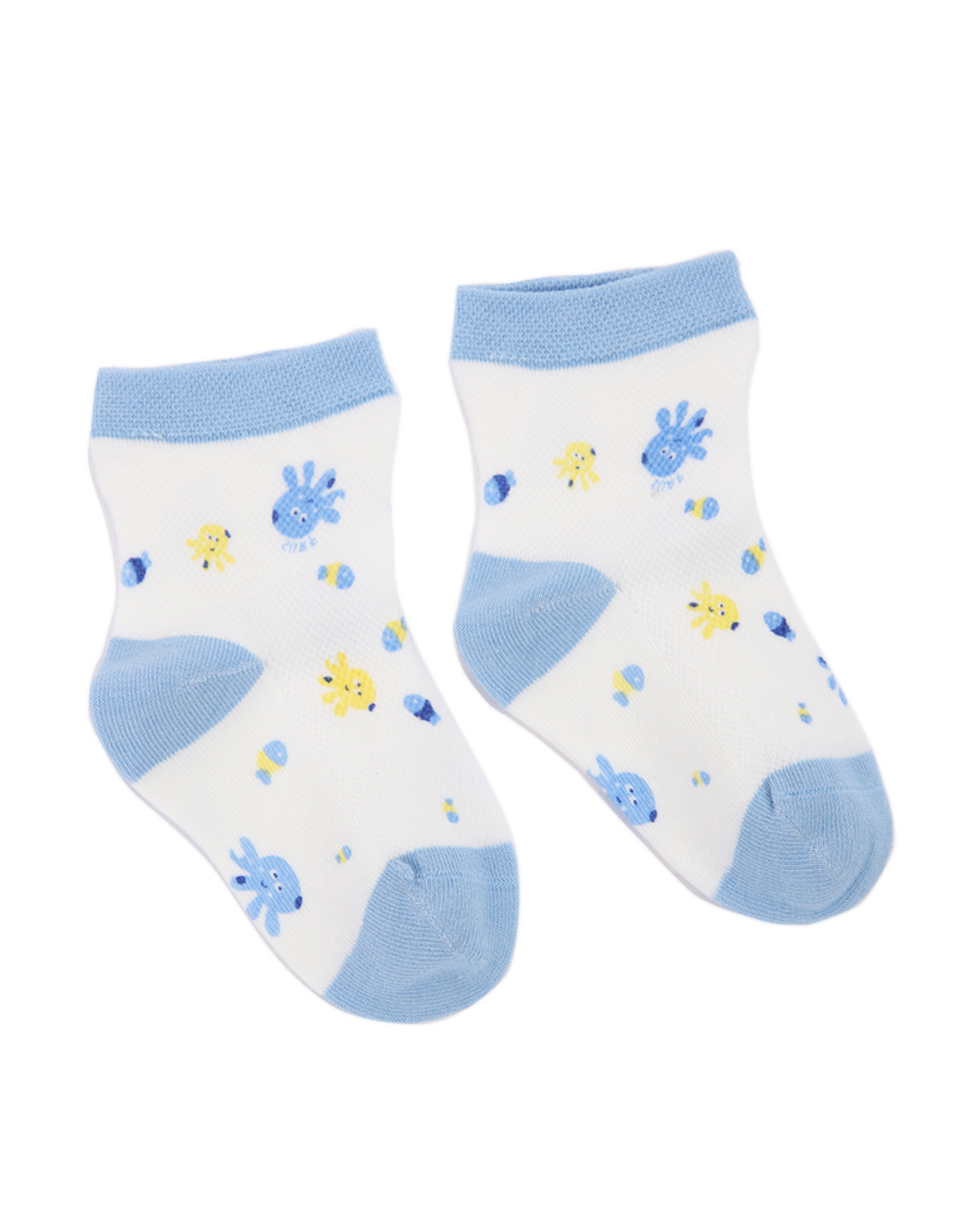 Aimer Baby配饰|爱慕婴幼袜子男童可爱章鱼印花短袜AB29