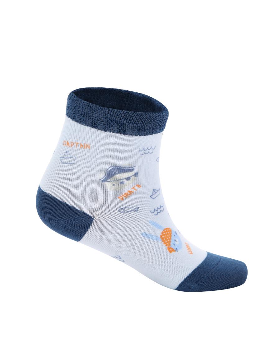 Aimer Baby配飾|愛慕嬰幼襪子男童小伙伴藍底印花短襪AB2