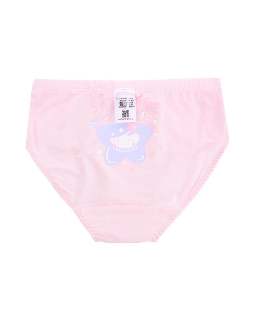 Aimer Kids内裤|爱慕儿童天使小裤MODAL印花糖果宝贝中腰三角裤AK1222813