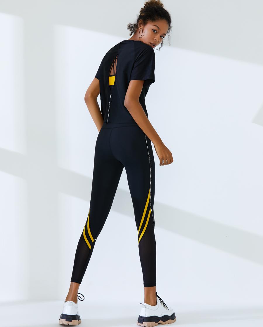 IMIS運動裝|愛美麗運動字母狂歡高腰緊身長褲IM64A