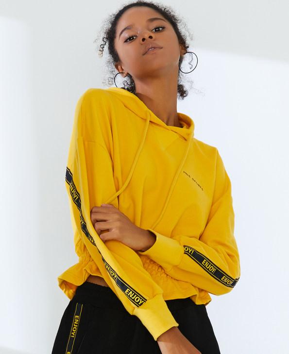 IMIS运动装 爱美丽运动字母狂欢长袖卫衣IM63AXL2