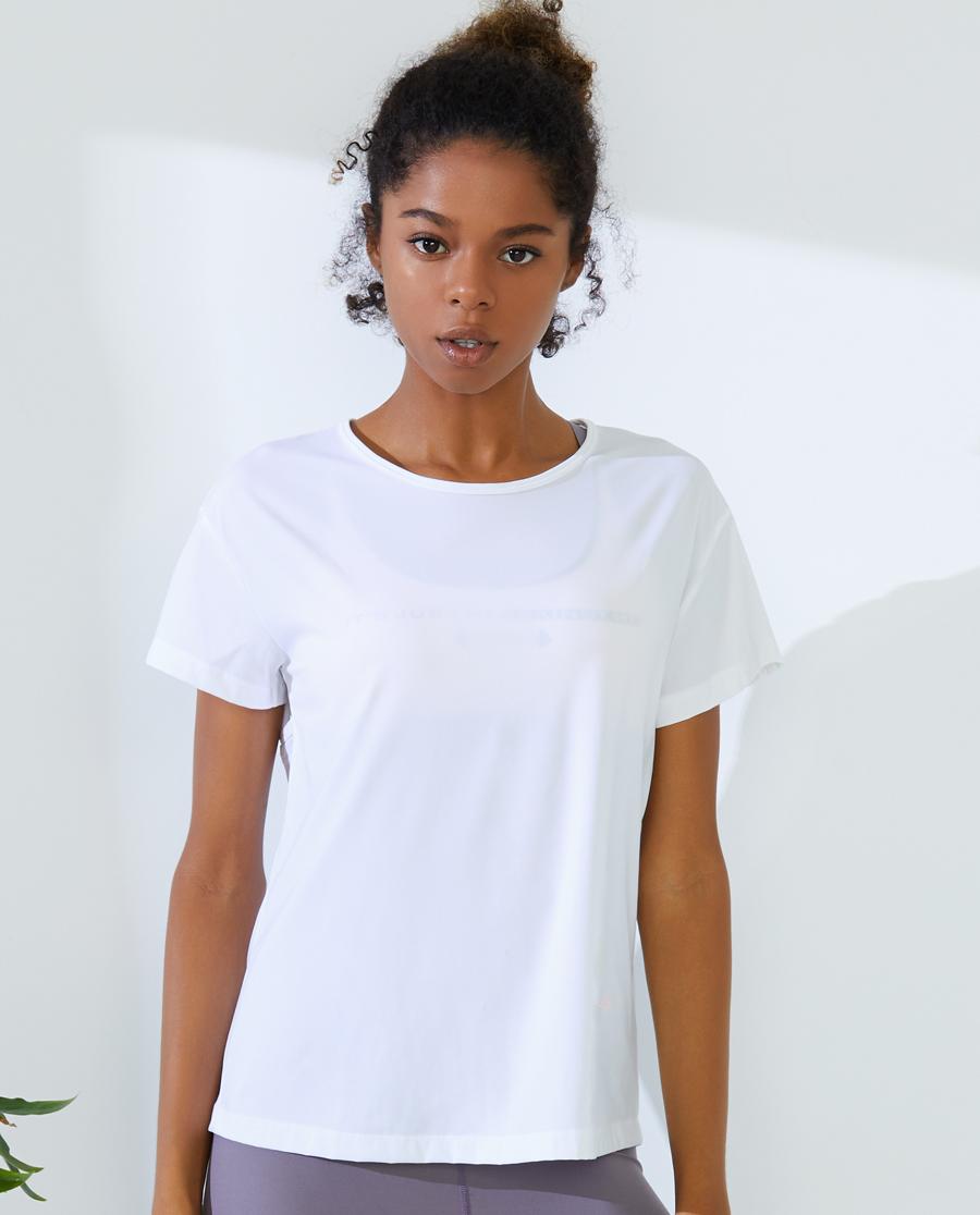 IMIS运动装|爱美丽运动穿梭时光后镂空短袖T恤IM63