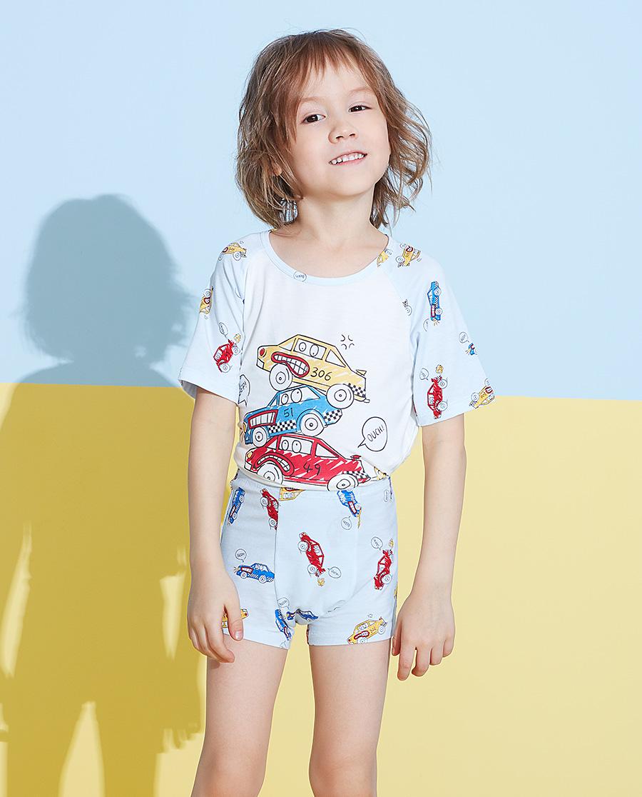Aimer Kids內褲 愛慕兒童賽車總動員男孩中腰平角褲AK22