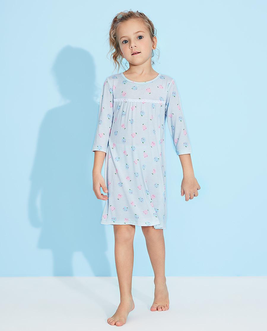 Aimer Kids睡衣|爱慕儿童果香物语七分袖睡裙AK1442881