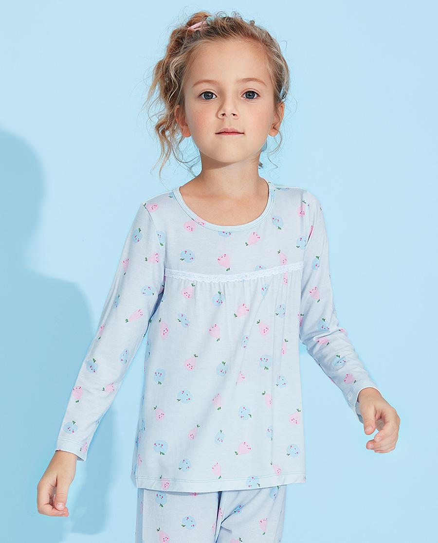 Aimer Kids睡衣 愛慕兒童果香物語女孩套頭長袖睡衣AK14