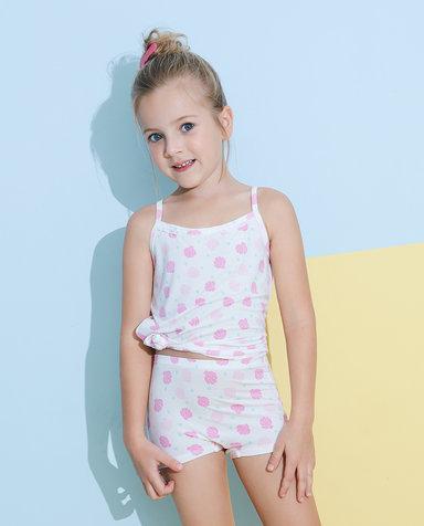 Aimer Kids内裤|爱慕儿童天使小裤MODAL印花女孩小贝壳中腰平角裤AK1232814