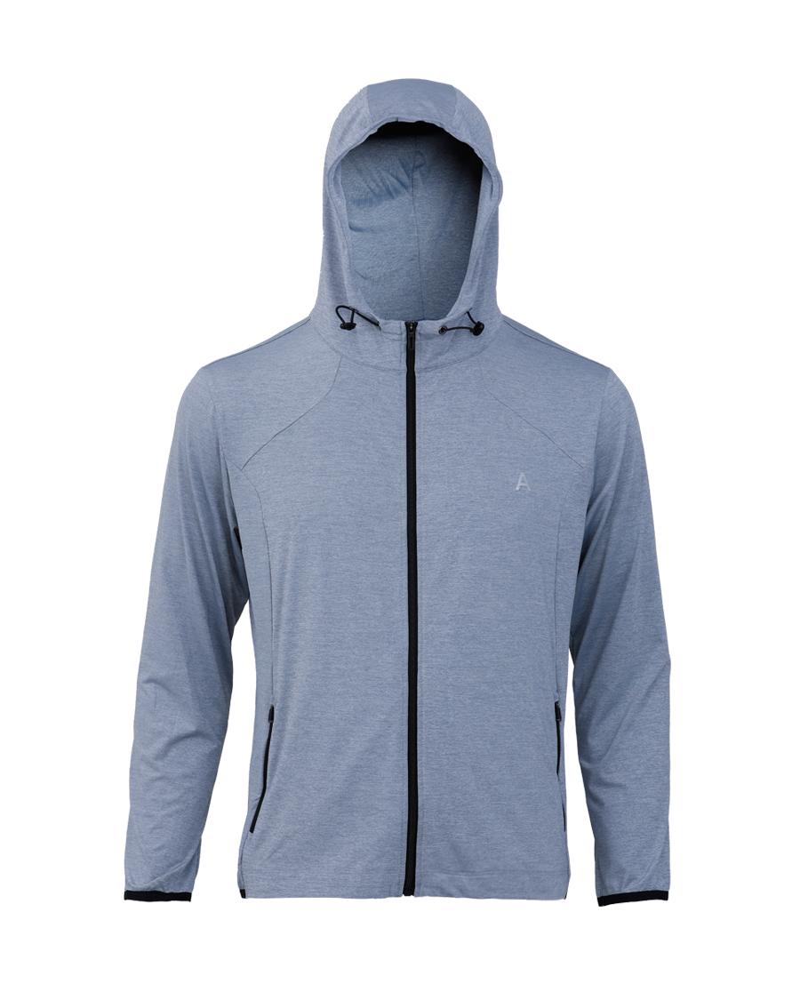 Aimer Men运动装|爱慕先生花灰运动系列帽衫拉链长袖NS62