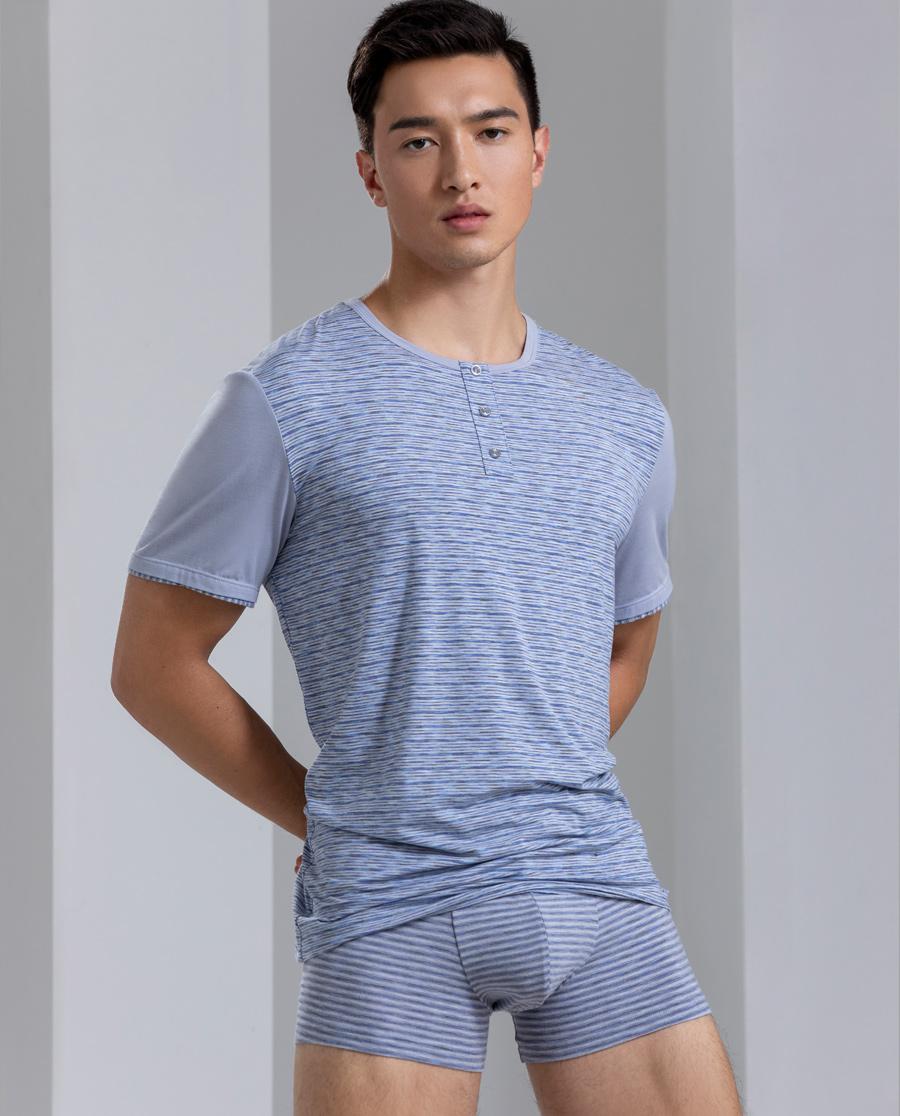 Body Wild內褲|寶迪威德麥浪條紋家居包腰平角褲ZBN23