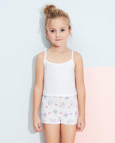 Aimer Kids内裤|爱慕儿童天使小裤MODAL印花女孩樱桃蛋糕中腰平角裤AK1232815