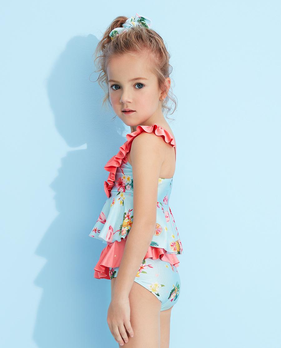 Aimer Kids泳衣|爱慕儿童2件装 怡情火烈鸟分身泳衣AK1