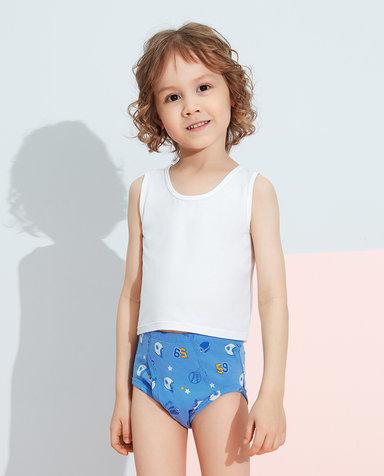 Aimer Kids内裤|爱慕儿童天使小裤棉氨纶印花男孩球垒中腰三角裤AK2222821