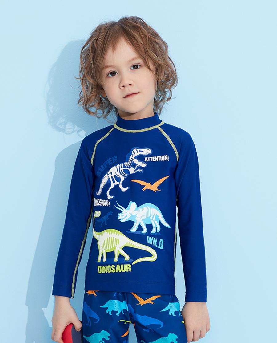 Aimer Kids泳衣|愛慕兒童恐龍家族長袖泳衣AK267321