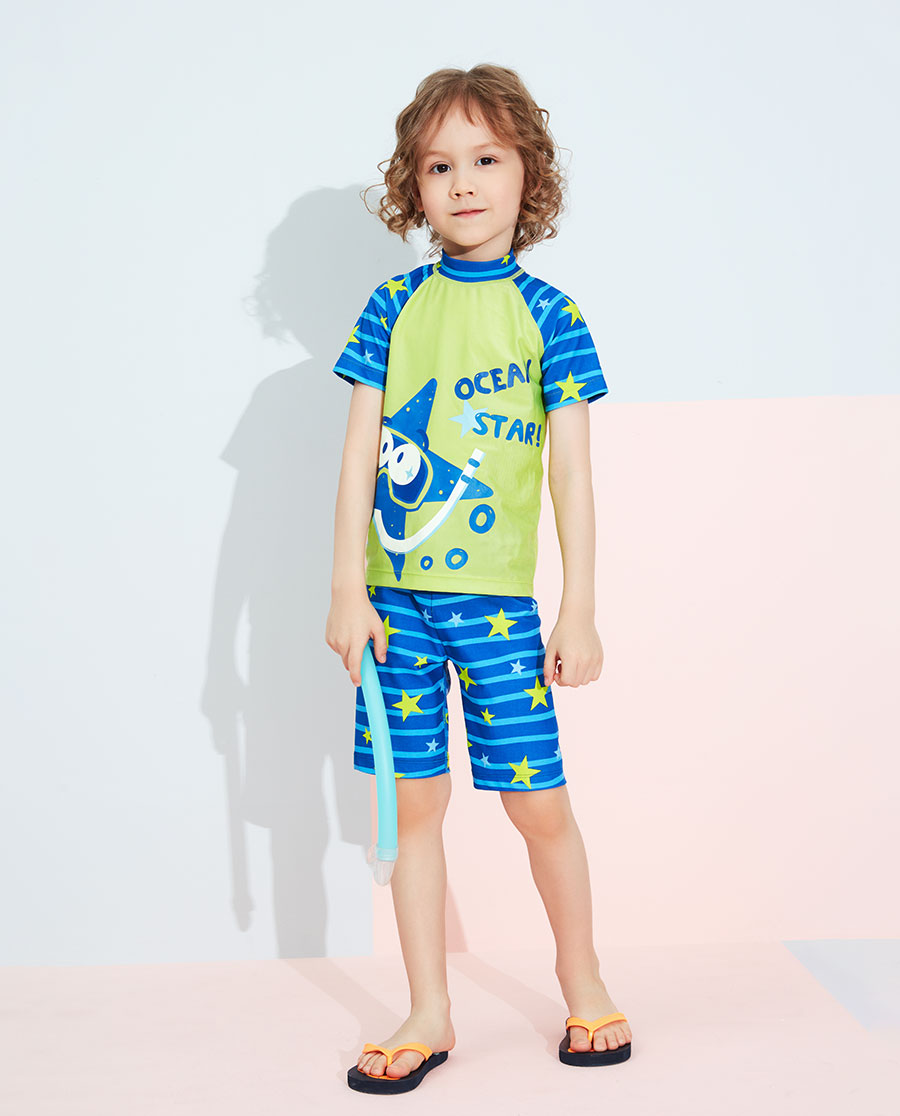 Aimer Kids泳衣|愛慕兒童潛水星短袖泳衣AK2673151
