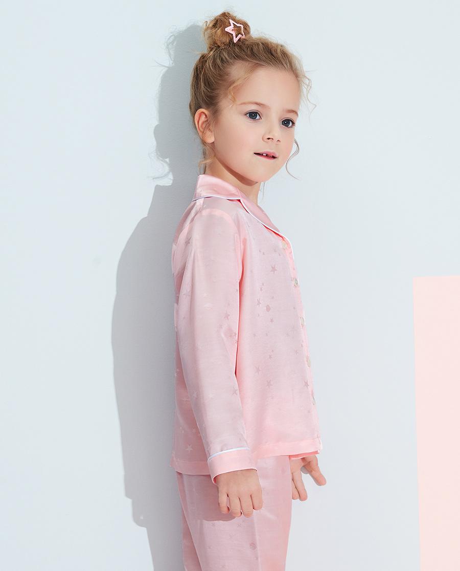 Aimer Kids睡衣|愛慕兒童星月絲滑女孩開衫長袖家居AK14