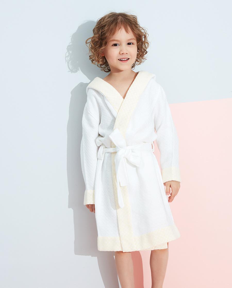Aimer Kids睡衣|爱慕儿童软糯格子浴袍AK3443271