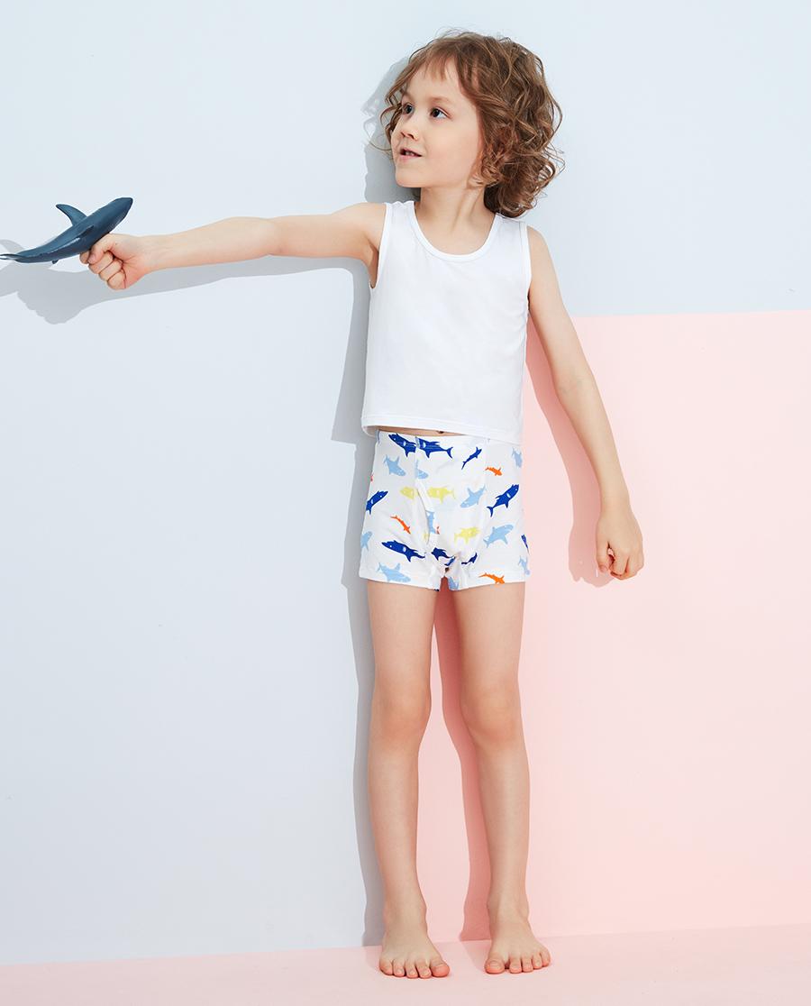 Aimer Kids內褲|愛慕兒童天使小褲MODAL印花男孩好多鯊