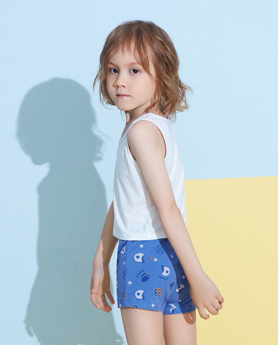 Aimer Kids内裤|爱慕儿童天使小裤棉氨纶印花球垒中腰平角裤AK2232821