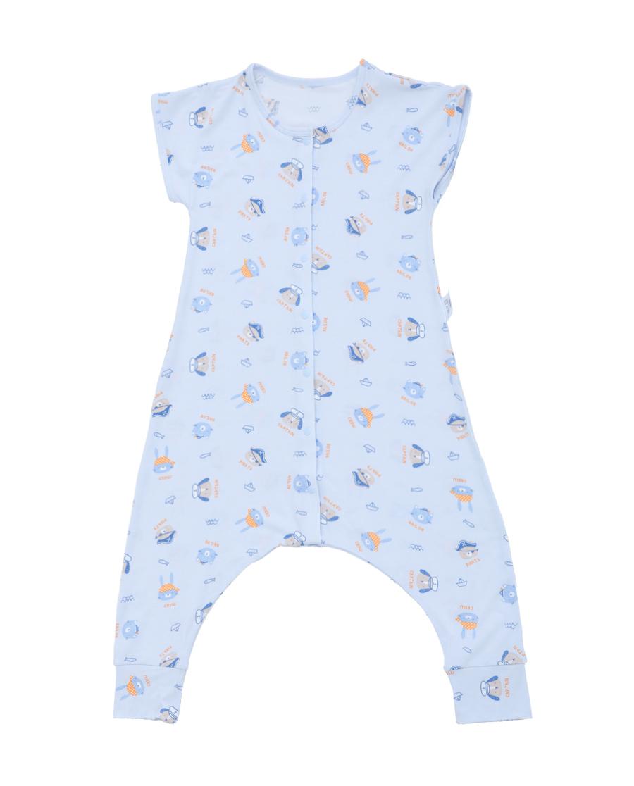 Aimer Baby睡衣 愛慕嬰幼小海盜短袖睡袋AB2452532