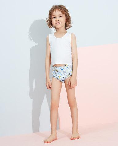 Aimer Kids内裤|爱慕儿童天使小裤棉氨纶印花男孩大力工程队中腰三角裤AK2222822