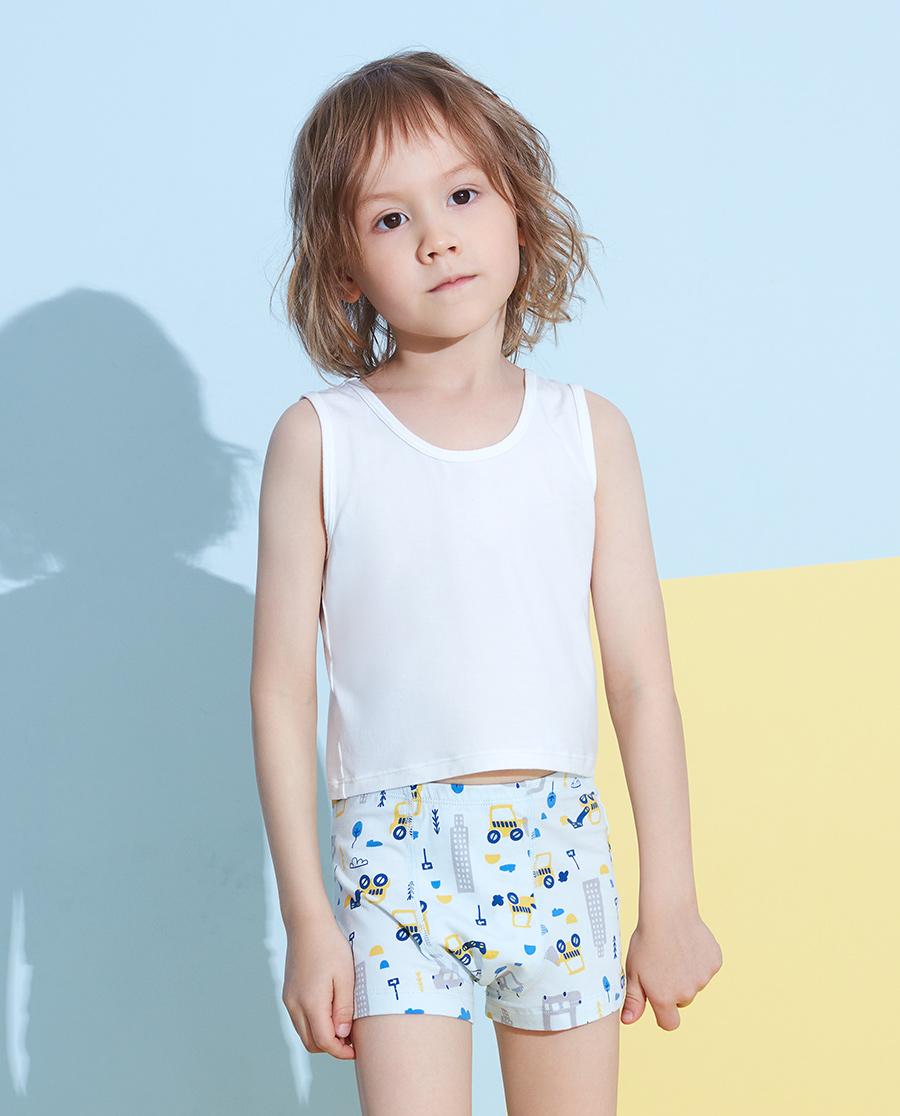Aimer Kids内裤|爱慕儿童天使小裤棉氨纶印花大力工程队中腰平角裤AK2232822