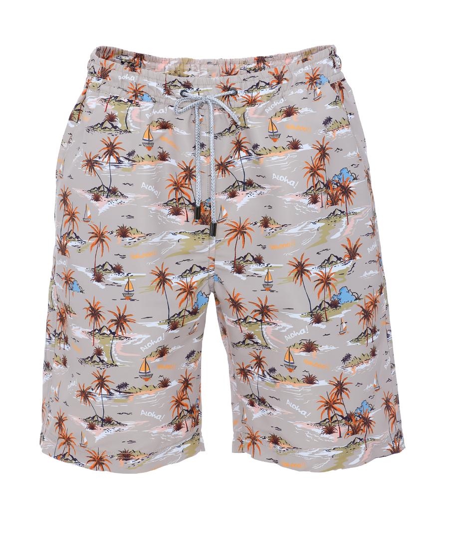 Aimer Men泳衣|愛慕先生卡其椰林短褲NS66D971