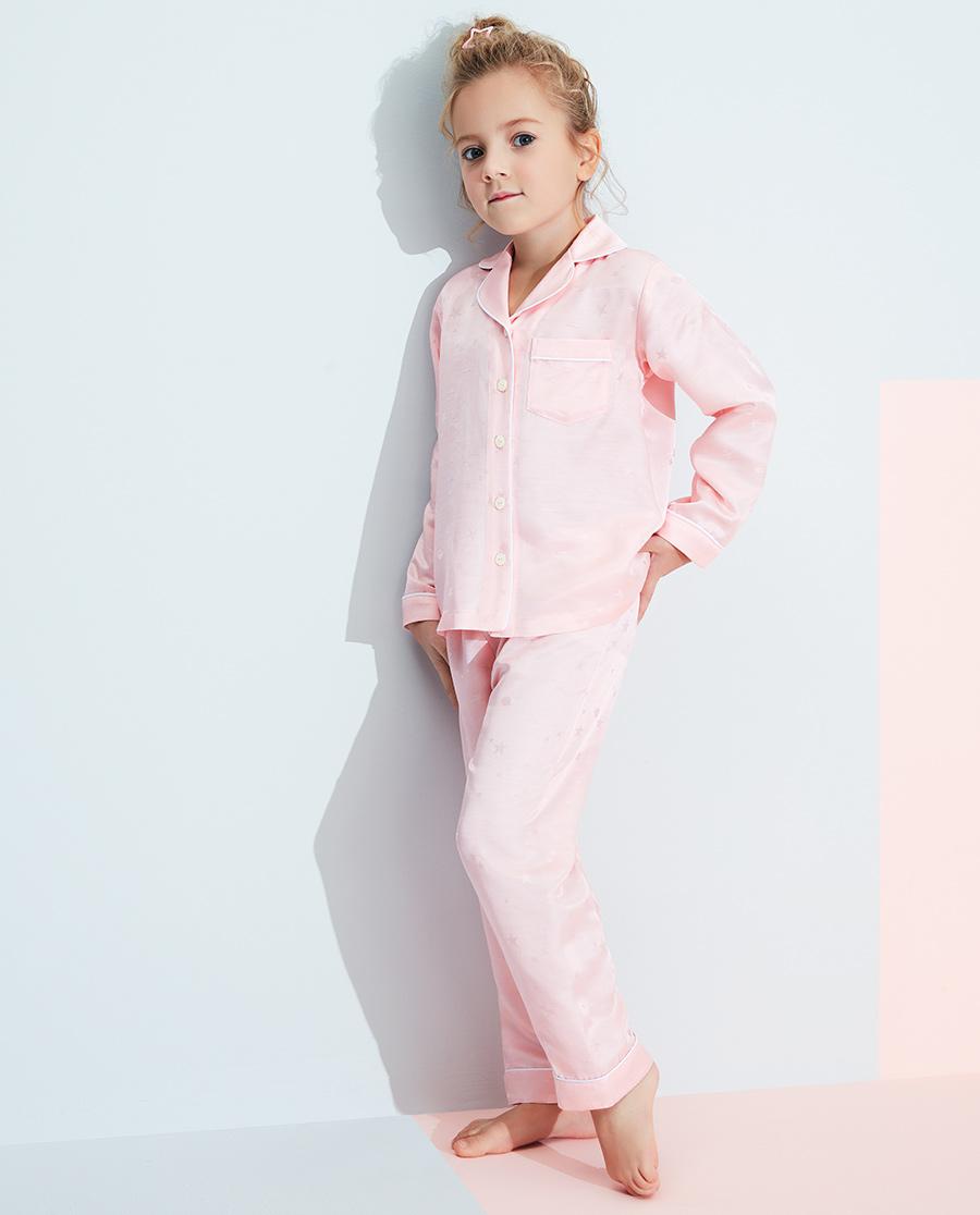 Aimer Kids睡衣|愛慕兒童星月絲滑女孩家居長褲AK1422