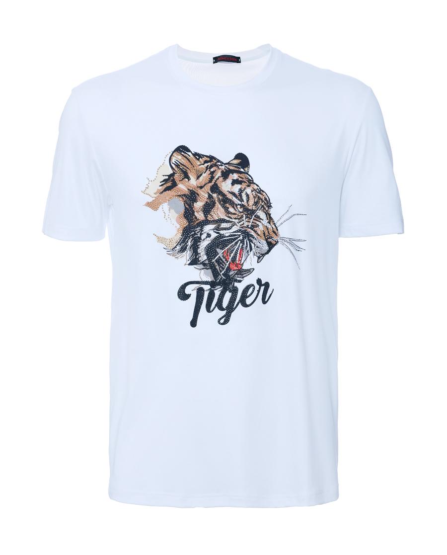 Aimer Men睡衣|爱慕先生限量创意T恤圆领短袖老虎NS81