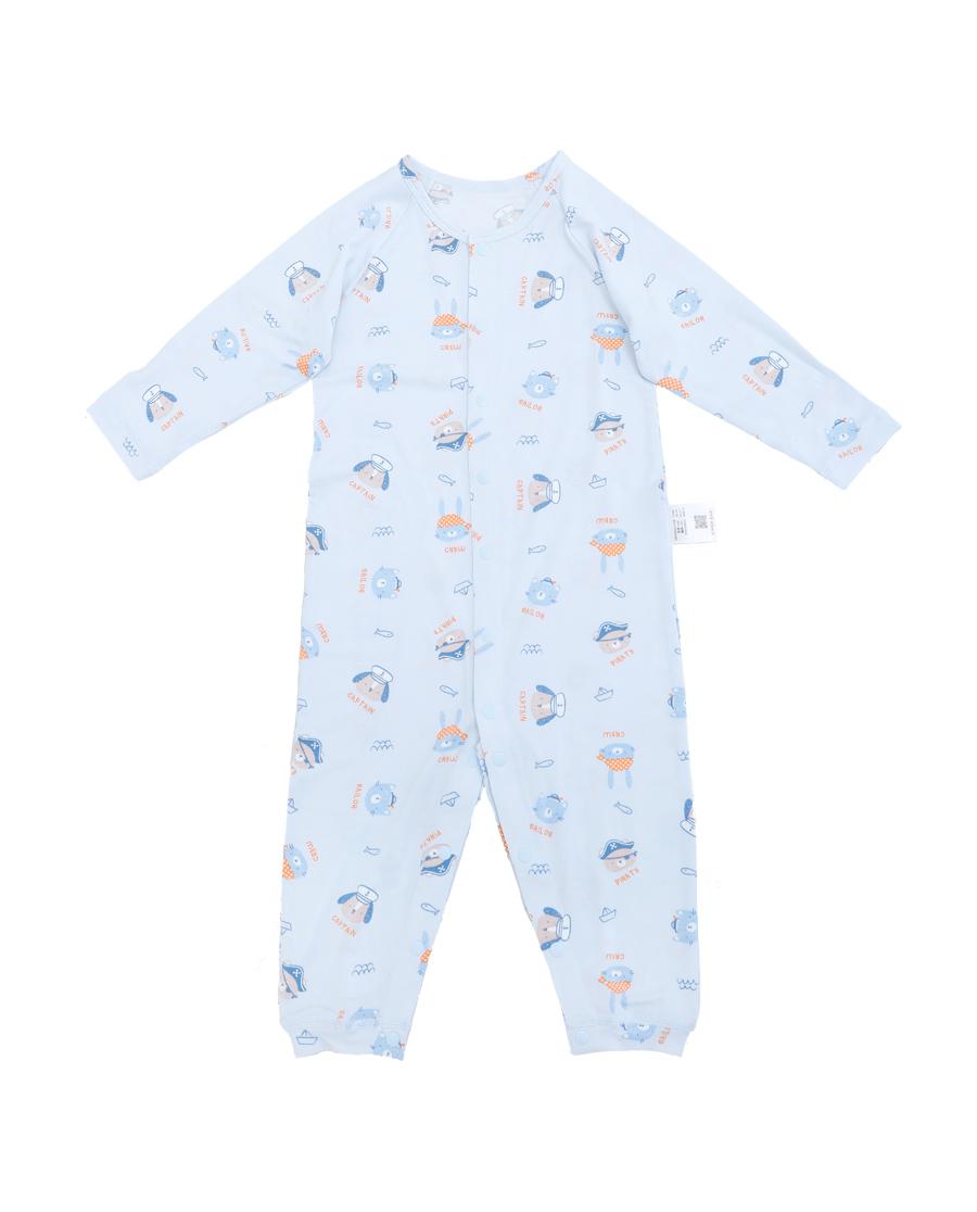 Aimer Baby睡衣 愛慕嬰幼小海盜長袖連體爬服AB24525