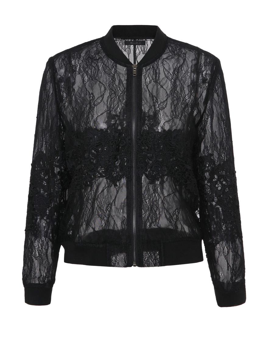 La Clover睡衣|LA CLOVER蘭卡文月之花蕾絲夾克L