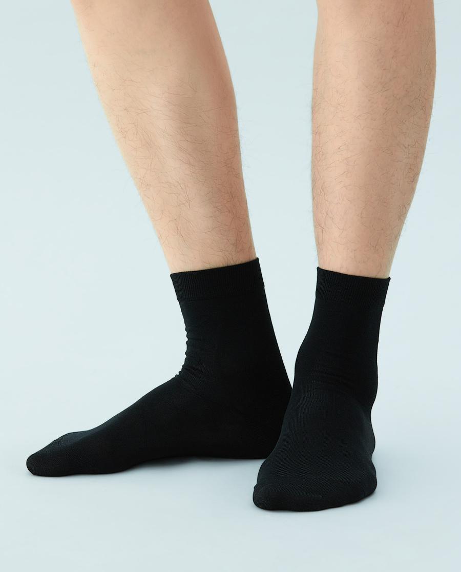 JOURVA襪子|優雅先生男士菱形格短筒襪JV211047